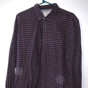 Cotton On long sleeve purple casual shirt.